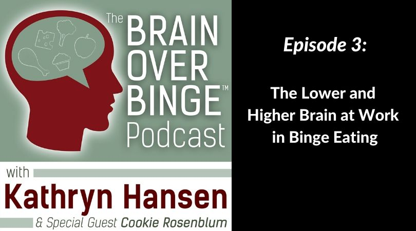 Binge eating lower brain and higher brain