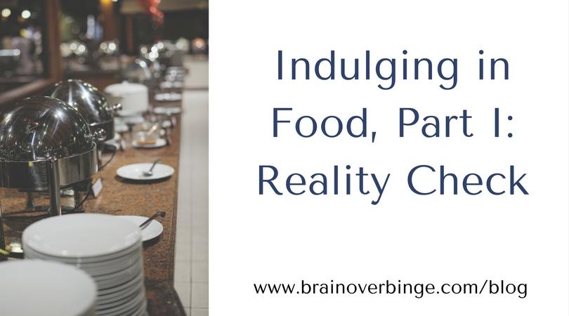 Indulging in food binge eating