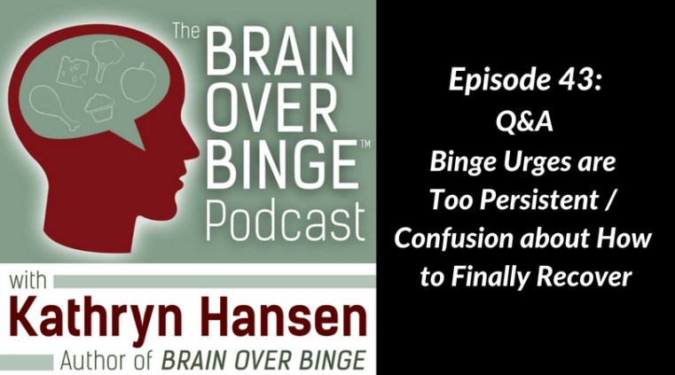 Confusion in binge eating recovery