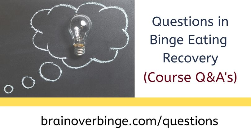 Binge eating course questions