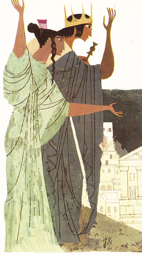 Vibrant Vintage Illustrations of Homer's Iliad and Odyssey by Alice and Martin Provensen