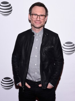 MR. ROBOT -- Hacked by DefCon and Mr. Robot at Tribeca Film Festival -- Pictured: Christian Slater -- (Photo by: Dave Kotinsky/USA Network)