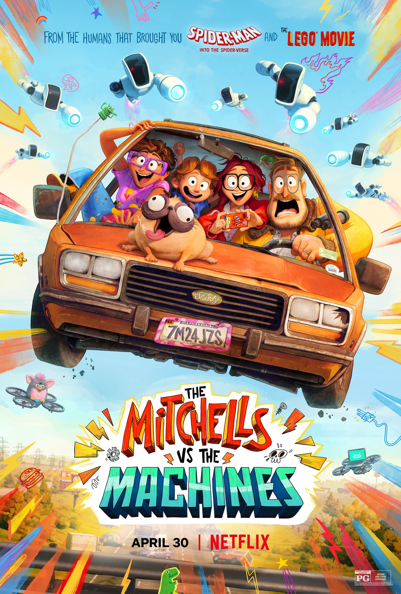 The Mitchells vs the Machines, Netflix, Sony Pictures Animation, Lord Miller, Columbia Pictures, One Cool Film Production