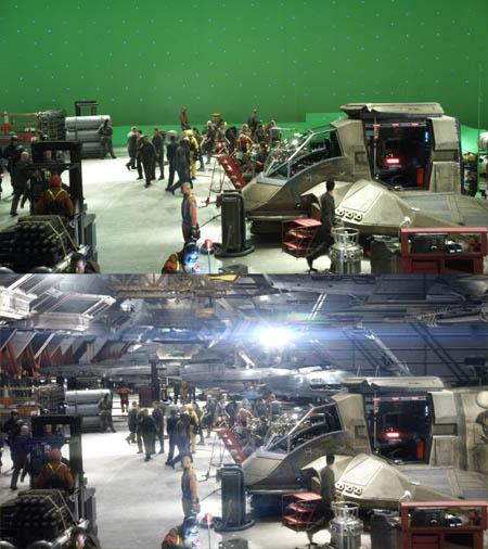 Galactica_Hangar-Wide_Green_blood_chrome_lens_flare