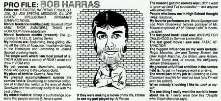 Bob Harras profile Bullpen New Mutants 62