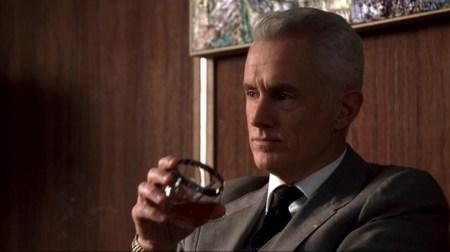 Roger Sterling drinking