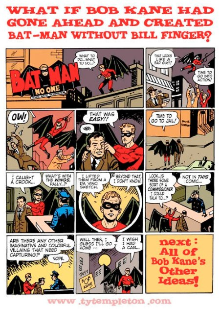 Ty Templeton Batman Bob Kane Bill Finger