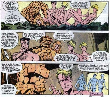 Fantastic Four Simonson naked desnudos