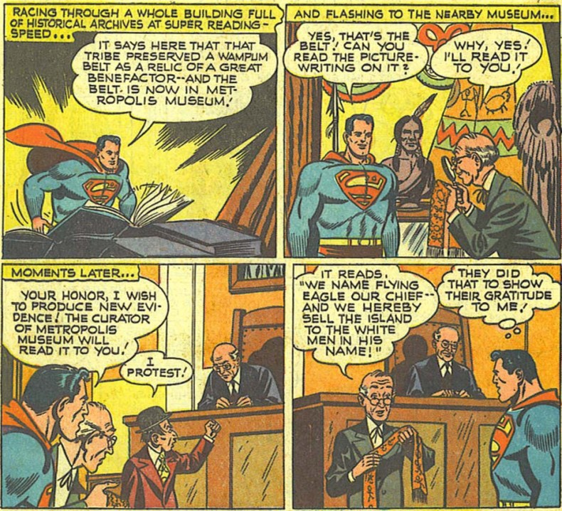 Action Comics 148 Superman estafando a los indios
