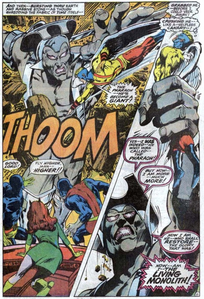 The Living Monolith X-Men 56 Roy Thomas Neal Adams