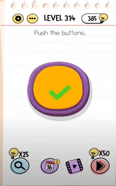 Jawaban Permainan Brain Test : jawaban, permainan, brain, Brain, Level, Buttons, Answers, BrainTestAnswers.com