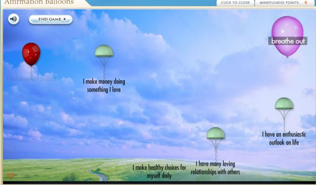 New Mindfulness Meditation Affirmation Balloons