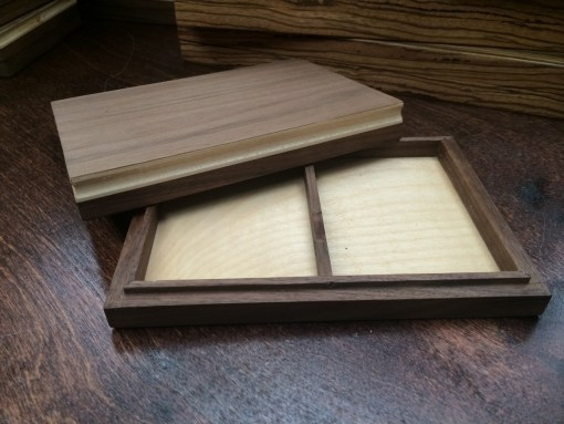 Double Walnut Display Box (BV BRANDED - Holds Two Decks)