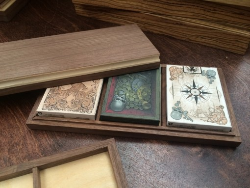 Triple Walnut Display Box (BV BRANDED - Holds Three Decks)