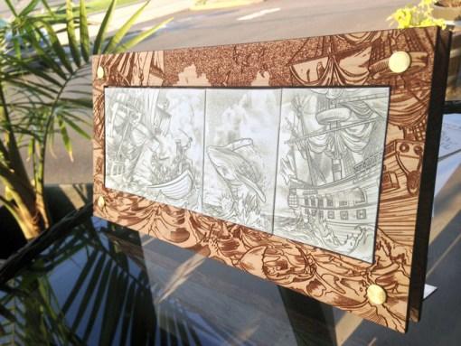 Quadriptych Wood Display