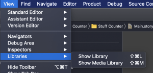 Show Library Menu - how to keep the object library open