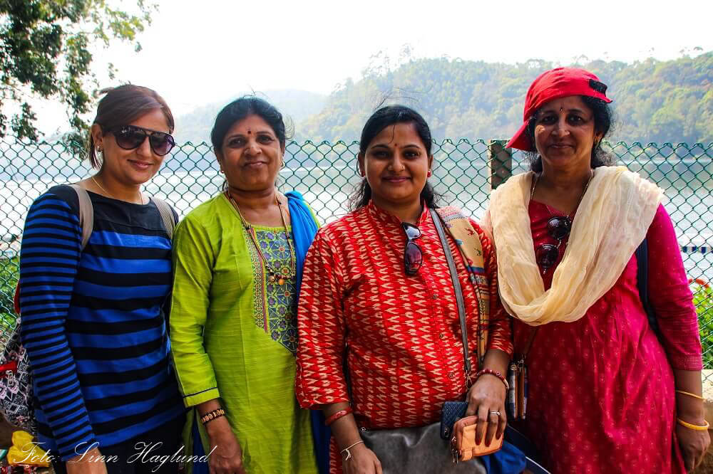 A group of women I got to talk with in Munnar, India