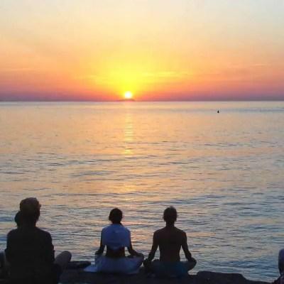 Yoga at sunrise on Ventotene
