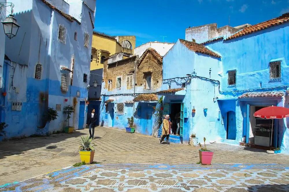 A quiet square inside the medina