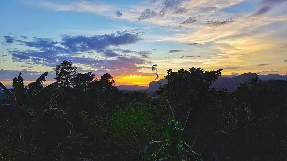 Sunset in Viñales