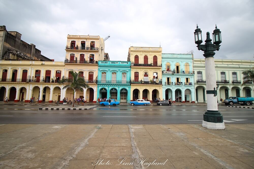 Colorful buildings and cars in Havana