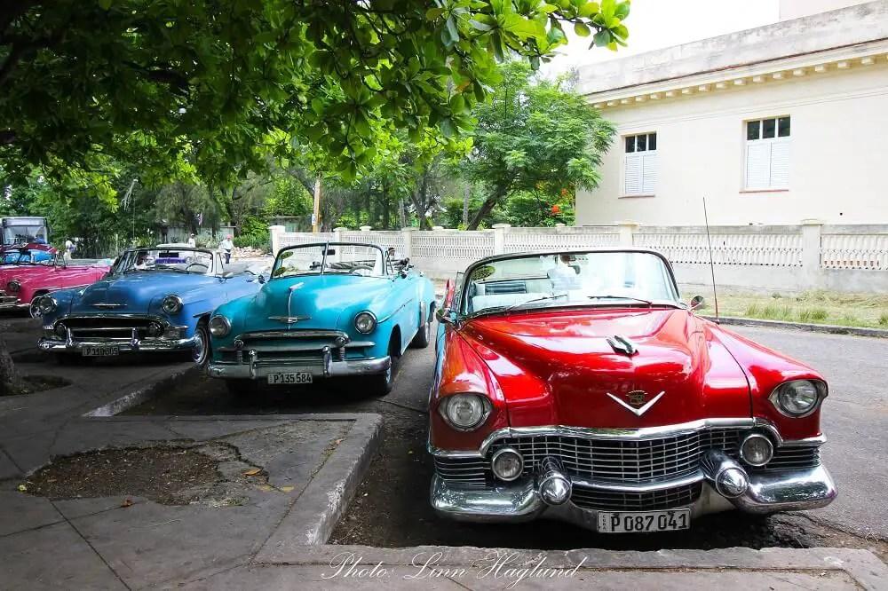 Colorful vintage cars in Havana