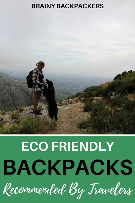 Are you looking for an eco friendly backpack? Here you get the best recommendations from travelers about their favorite sustainable backpacks. #sustainability #responsibletourism #travelaccessories #sustainabletourism #ecobackpacks #environmentallyfriendly #environmentallyfriendlybackpacks #traveltips #backpacks #sustainablebackpacks #brainybackpackers