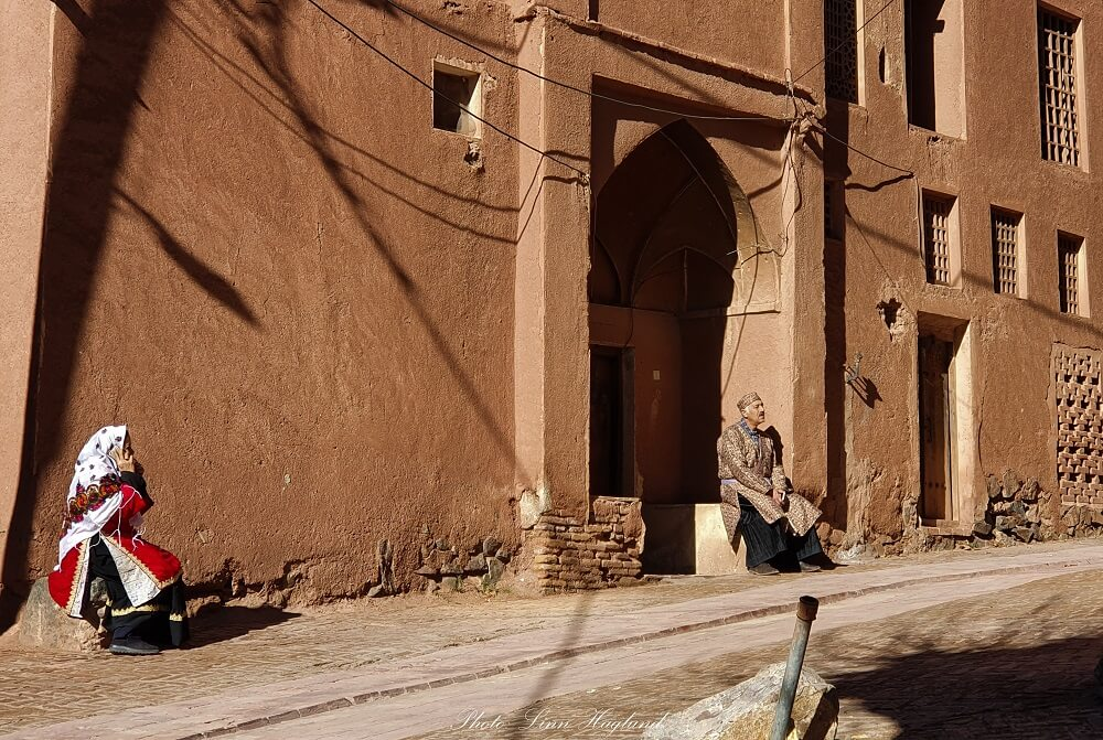 The locals in abyaneh Iran still dress in traditional clothing