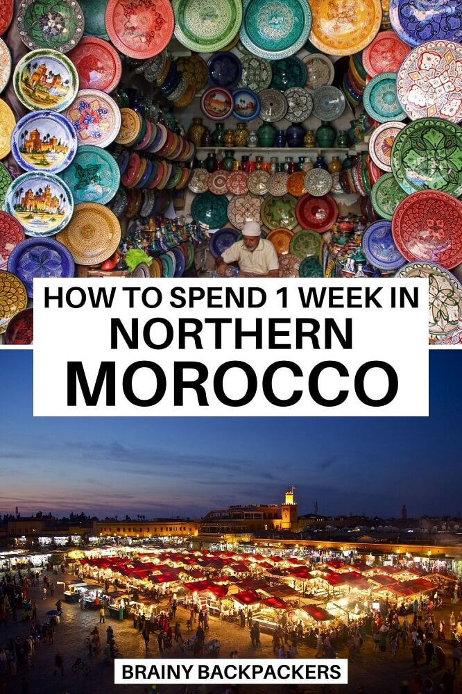 Plannig to spend a week in Morocco? This is the perfect northern Morocco itinerary for 7 days from Meknes to Al Hoceima. #traveltips #responsibletravel #morocco #northernafrica #africa #morocco #itinerary #travelitinerary #responsibletourism #brainybackpackers #offthebeatentrack #offthebeatenpath