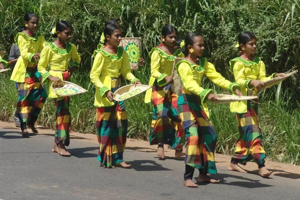 Wesak parade in Dambulla Sri Lanka