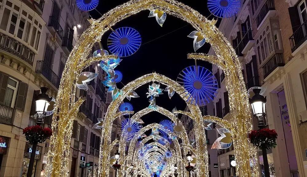 Malaga lightshow