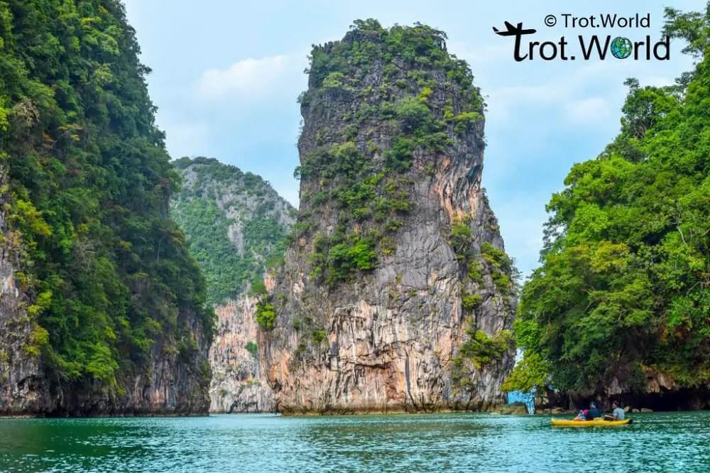 Canoeing in Phang Nga Bay Thailand