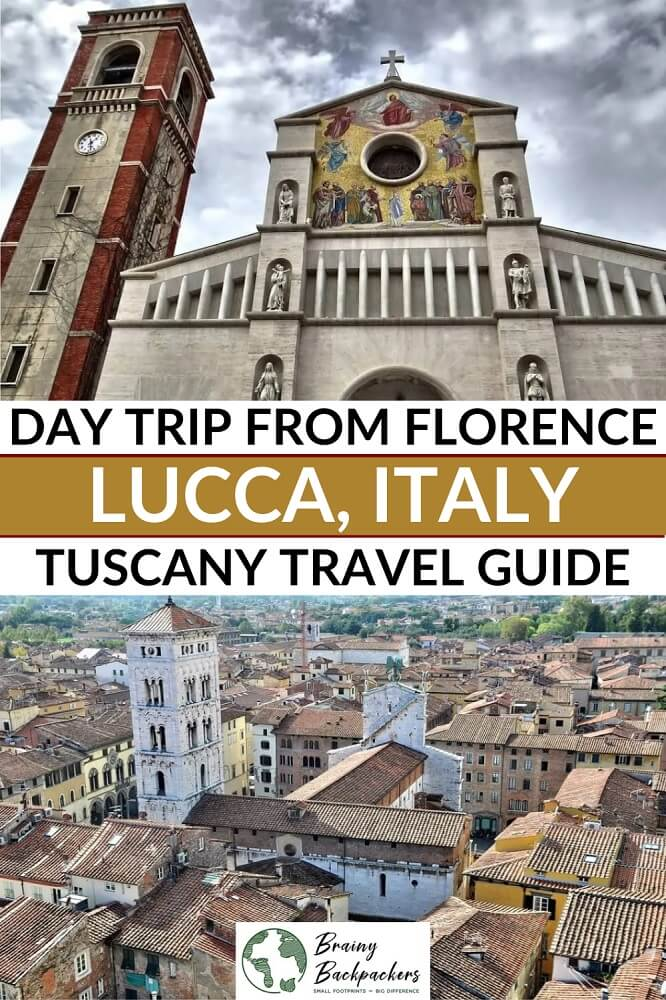 Planning a day trip from Florence to Lucca? Here is all you need to know for the perfect Florence to Lucca day trip, what to do in Lucca in a day and how to get from Florence to Lucca by train, bus, or car. #Tuscany #Italy #travel