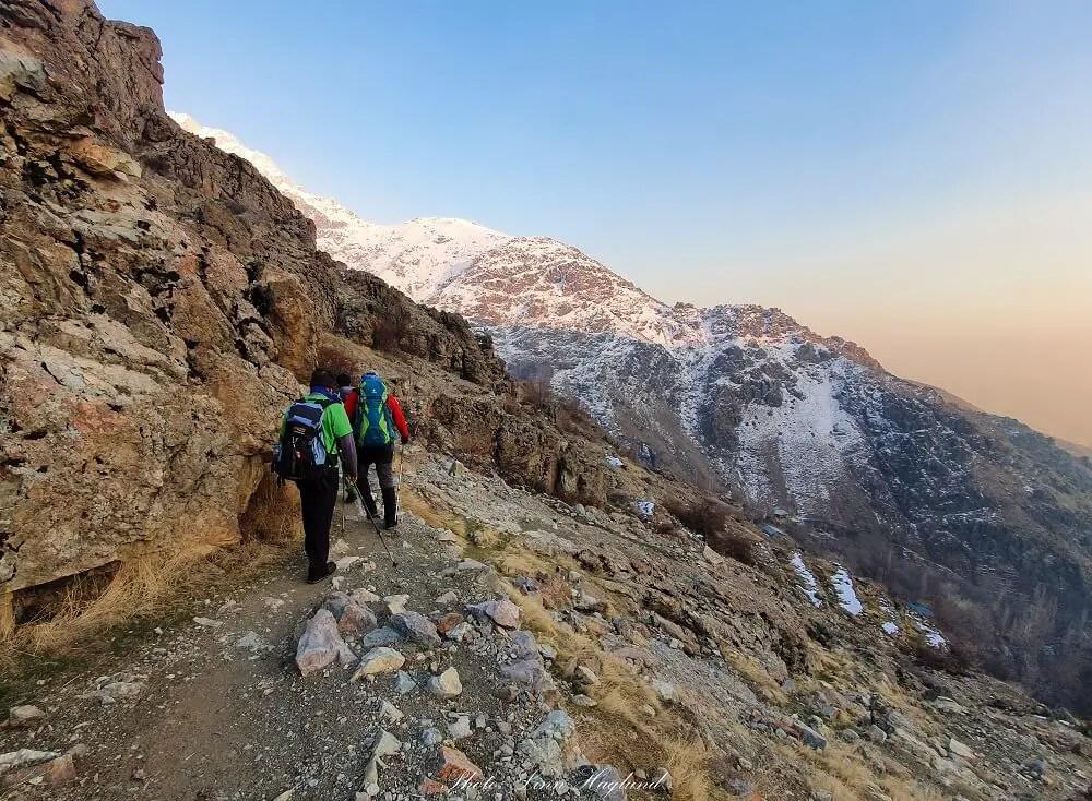 Hiking in the Alborz mountains Iran