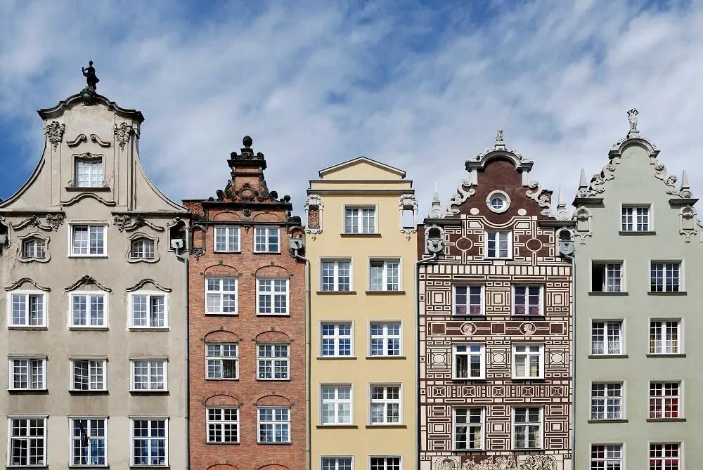 Gabled houses in Gdansk