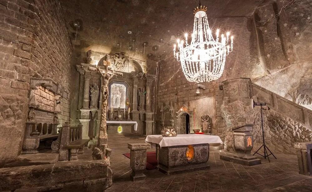 Wieliczka Salt Mine is one of the best things to do in Krakow winter