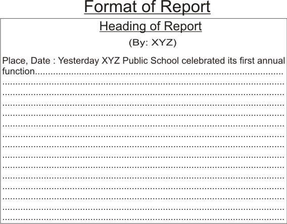 format a report