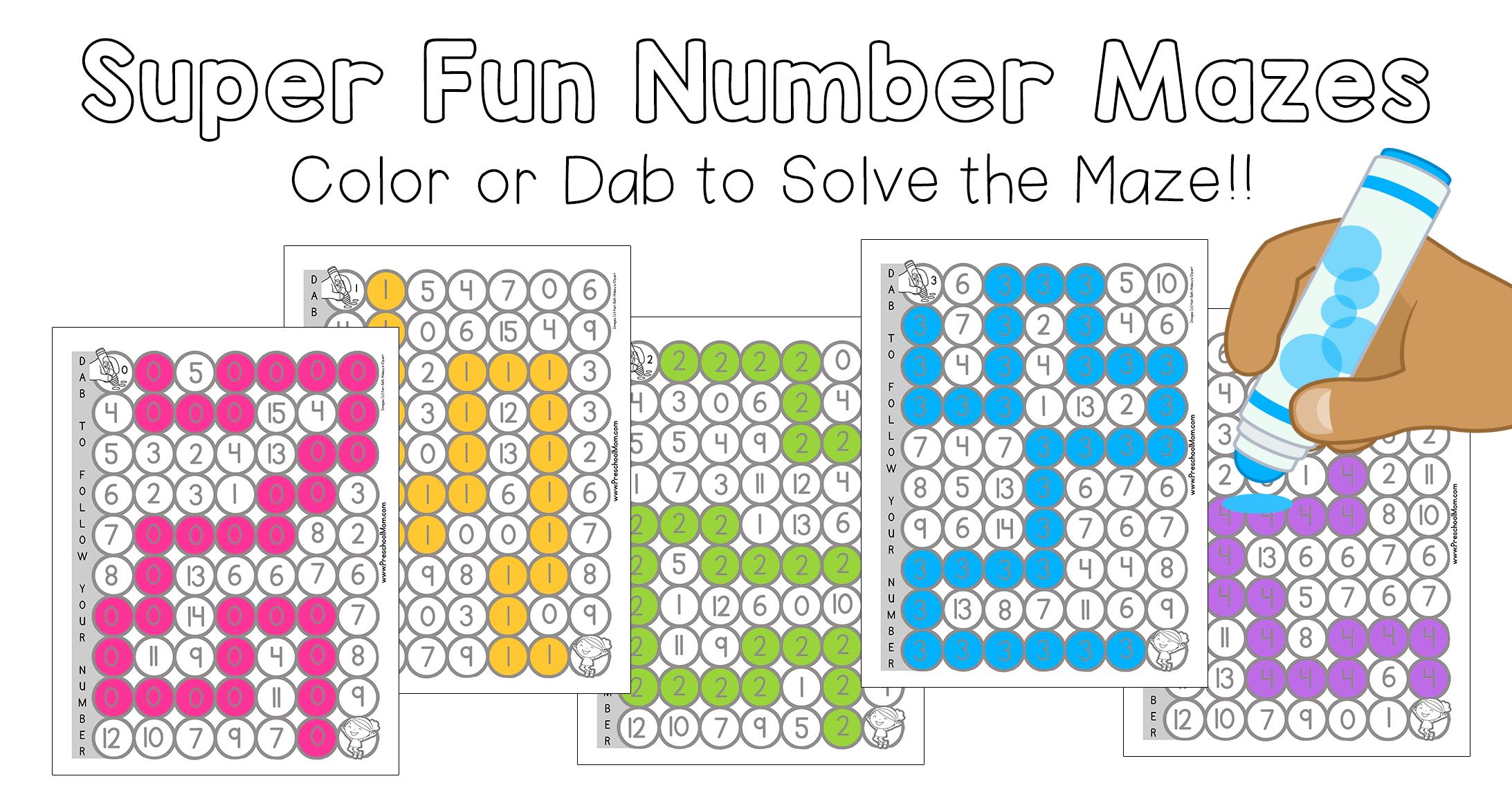 Number Mazes Brainymaze