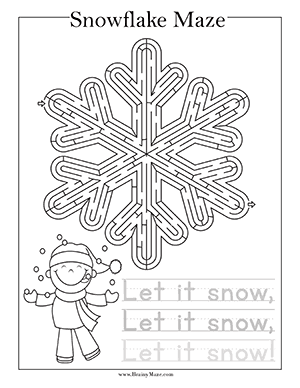 Winter Mazes Amp Activity Pages Brainy Maze