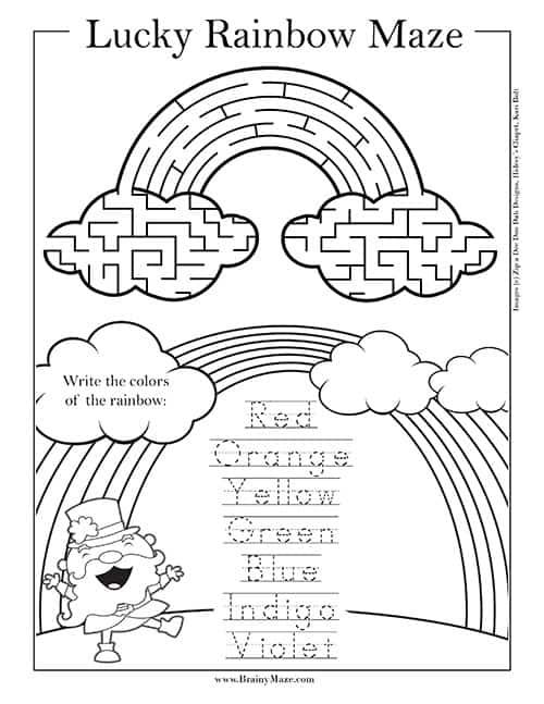 St Patricks Day Mazes Brainy Maze