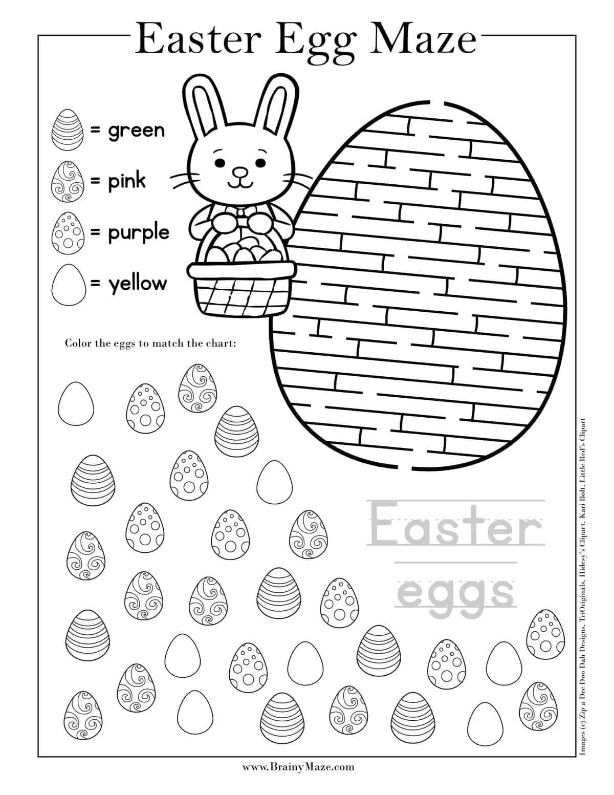Easter Mazes For Kids