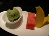 Green Tea Ice Cream and Fruit