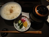 White Rice, Pickled Vegetables and Miso Soup