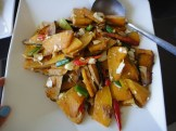 Butternut Squash With Chives, Red Peppers and Salted Duck Egg