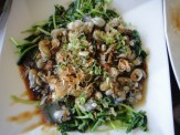 Fried Oysters With Spinach