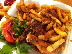 Portuguese Half Chicken With Fries and Salad