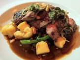 Grilled Kamouraska Leg of Lamb, Ricotta Gnocchi, Braised Shank, Roasted Peppers, Olive, Fennel, Pine Nuts, Rapini, Gremolat