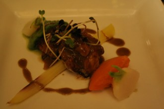 Veal Sweetbreads with a Shallot and Oyster mushroom sauce