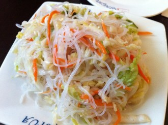 Vermicelli With Shredded Lettuce and Carrots