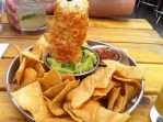 Guacamole and Chips, Salsa with Pork Rind